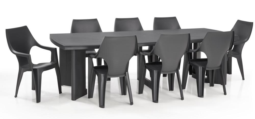 ALLIBERT Dante table de jardin graphite - Allibert
