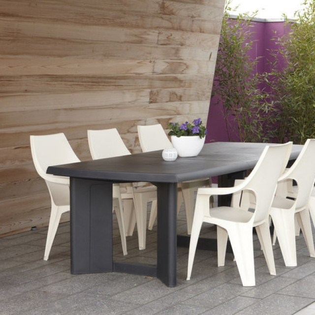 Allibert New York 260 table de jardin graphite