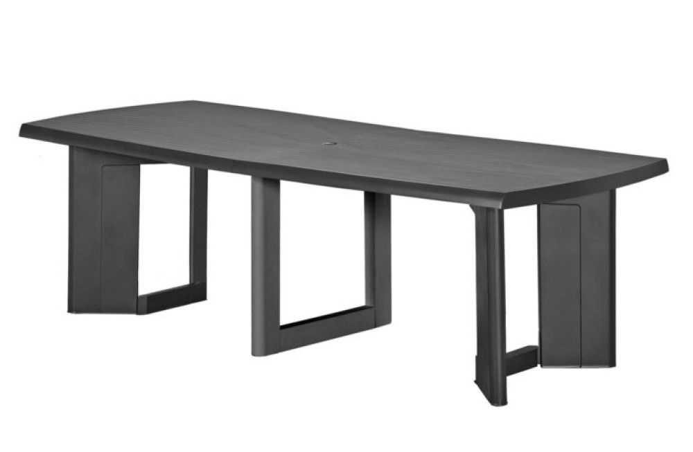 Allibert new york 320 table de jardin graphite allibert - Salon de jardin allibert new york gris anthracite ...