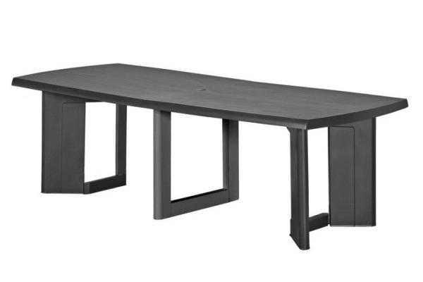 New York 260 table de jardin graphite