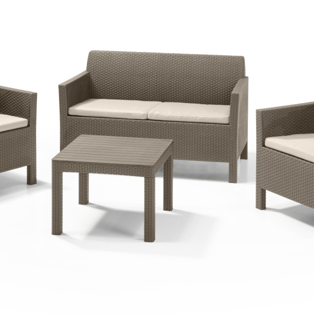 Allibert Orlando Lounge Set Cappuccino Zweisitzer-Sofa