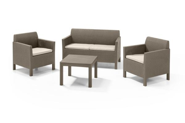Orlando lounge set cappuccino two seater