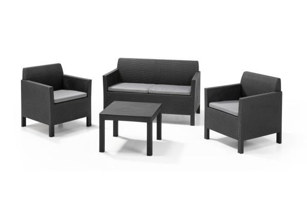 Orlando lounge set graphite two seater