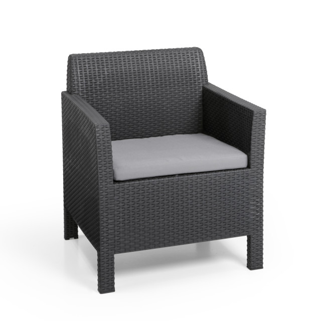 Allibert Orlando lounge set graphite three seater