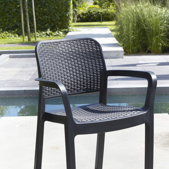 Allibert Samanna stackable chair graphite