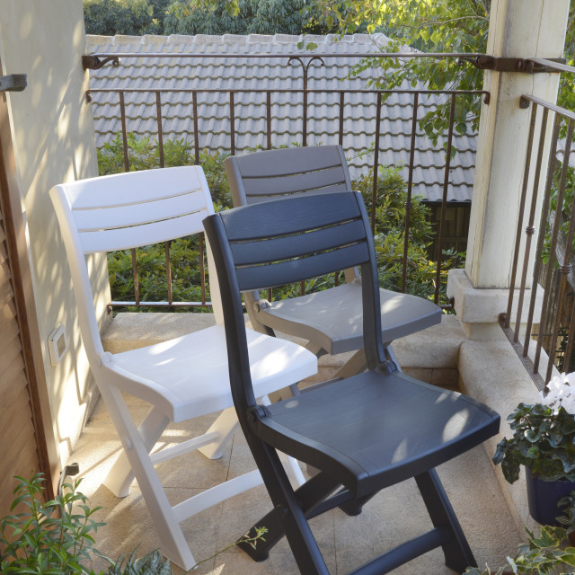 Allibert Tacoma bistro chair graphite