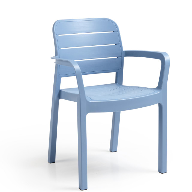 Allibert Tisara stackable chair blue