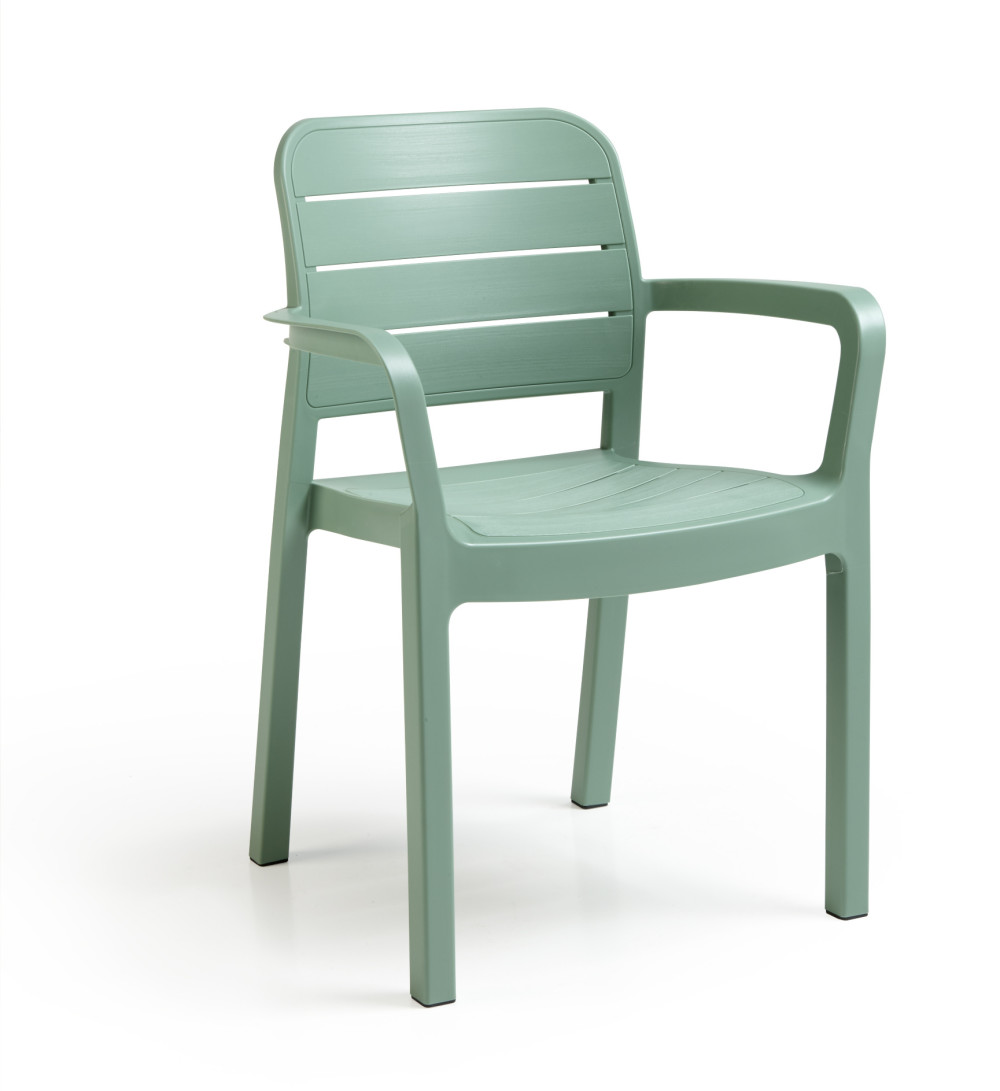 Gartenstuhl plastik  ALLIBERT Tisara stackable chair green - Allibert