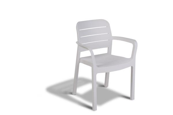 Tisara stackable chair white