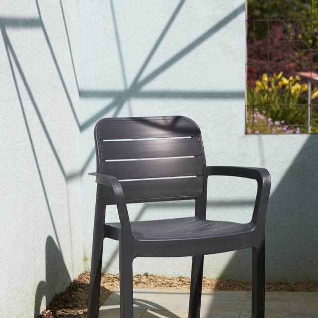 Allibert Tisara stackable chair graphite