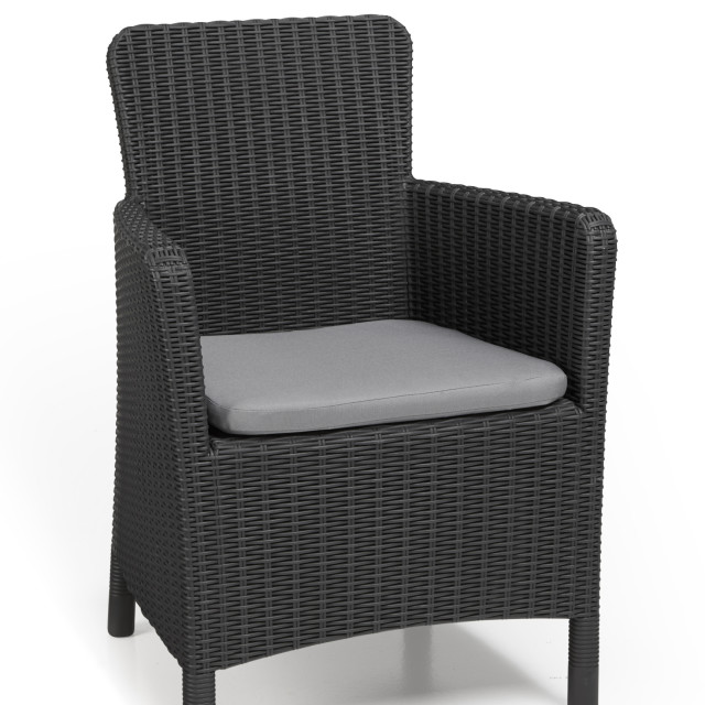 Allibert Trenton garden chair graphite