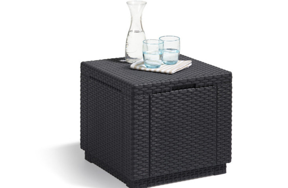 ALLIBERT Cube Pouf graphite - Allibert