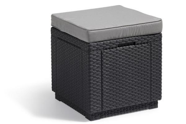 Cube Pouf graphite
