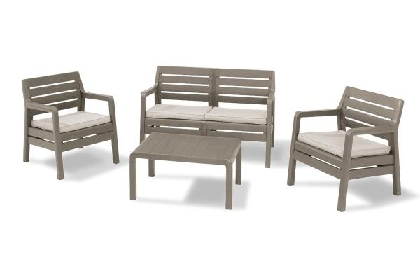 Delano lounge set cappuccino two seater