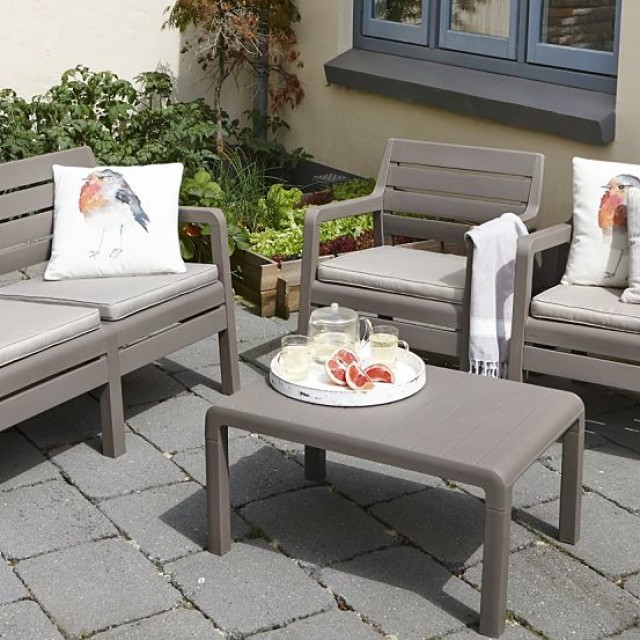 Allibert Delano Lounge Set Cappuccino Zweisitzer-Sofa