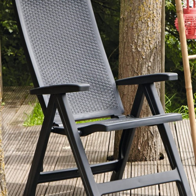 Allibert Montréal chaise réglable graphite