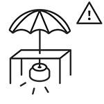 use an umbrella foot UITGESNEDEN