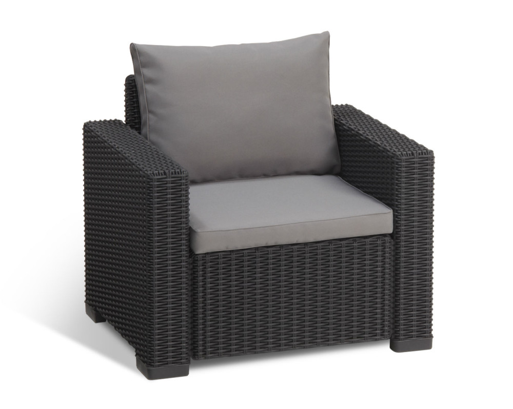 Allibert moorea lounge set graphit allibert - Salon de jardin allibert hawaii lounge set ...