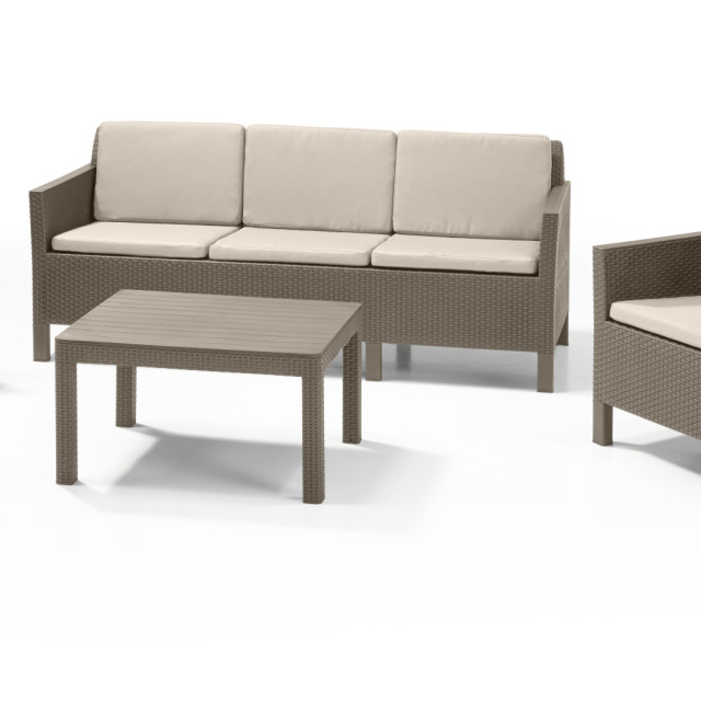 Allibert Chicago lounge set cappuccino three seater