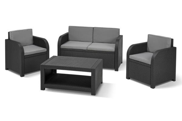 Modena lounge set graphite