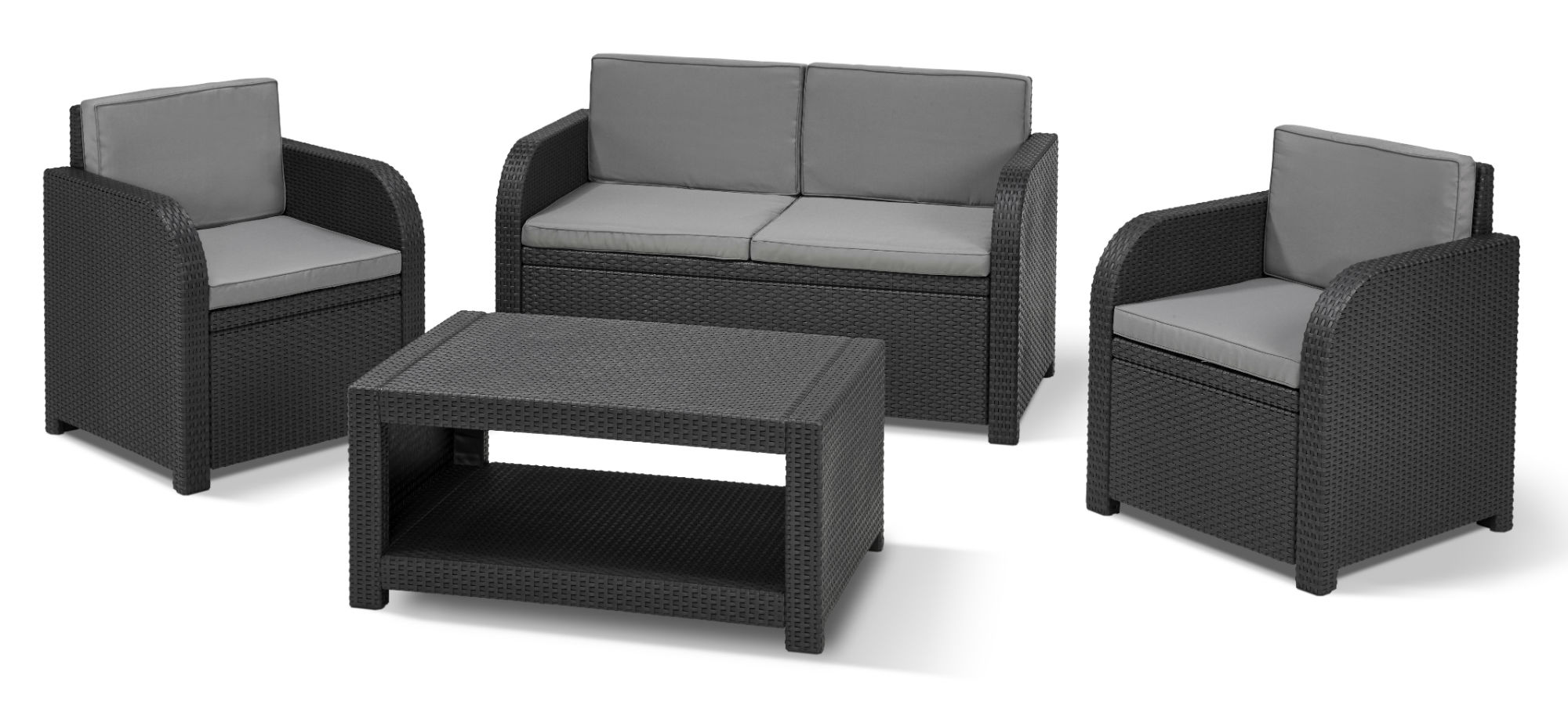 allibert modena loungeset grafiet allibert. Black Bedroom Furniture Sets. Home Design Ideas