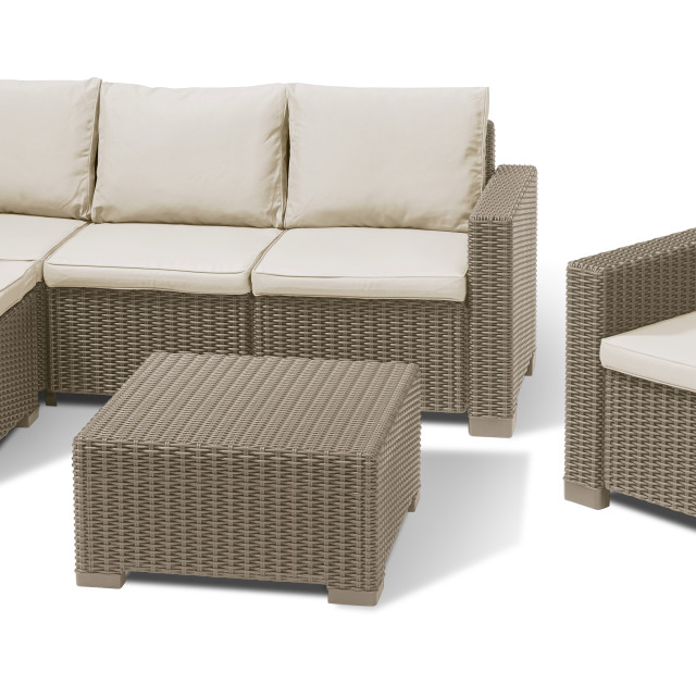 allibert moorea lounge set cappuccino allibert. Black Bedroom Furniture Sets. Home Design Ideas