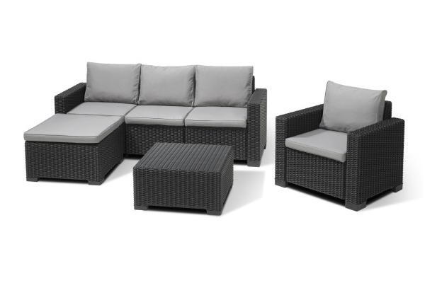 Moorea lounge set graphite