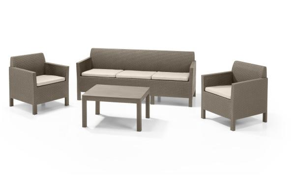 Orlando lounge set cappuccino three seater