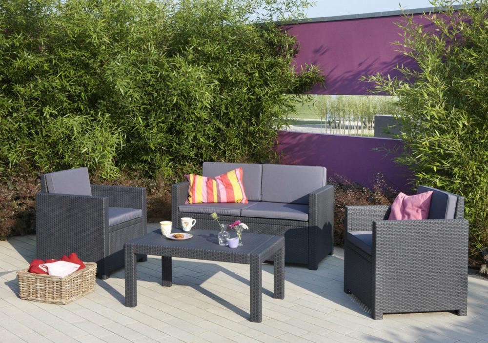 allibert victoria loungeset grafiet allibert. Black Bedroom Furniture Sets. Home Design Ideas