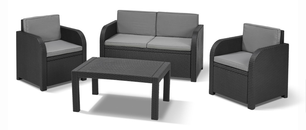 Allibert st tropez lounge graphit allibert - Salon de jardin allibert hawaii lounge set ...