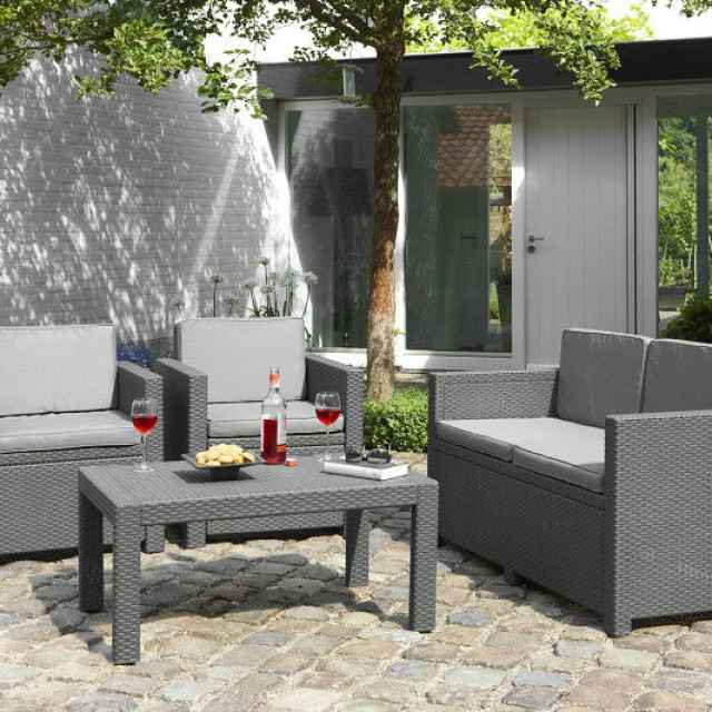 Allibert Victoria lounge set graphite