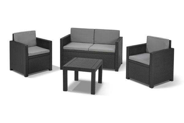 Victoria lounge set graphite