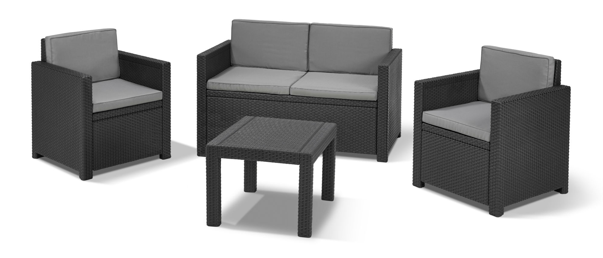 allibert victoria lounge set graphite allibert. Black Bedroom Furniture Sets. Home Design Ideas