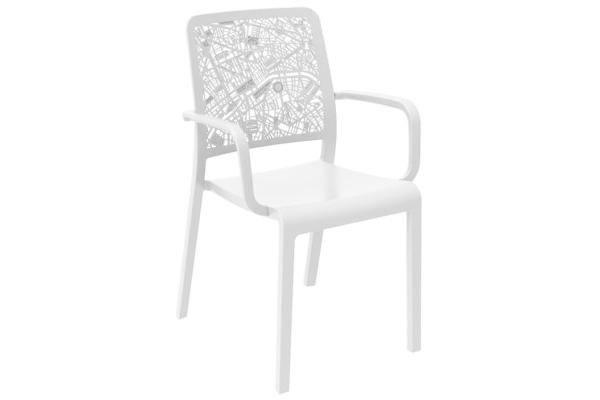 Charlotte City armchair white