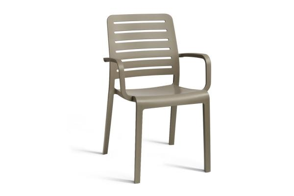 Charlotte Country chair with armrests cappuccino