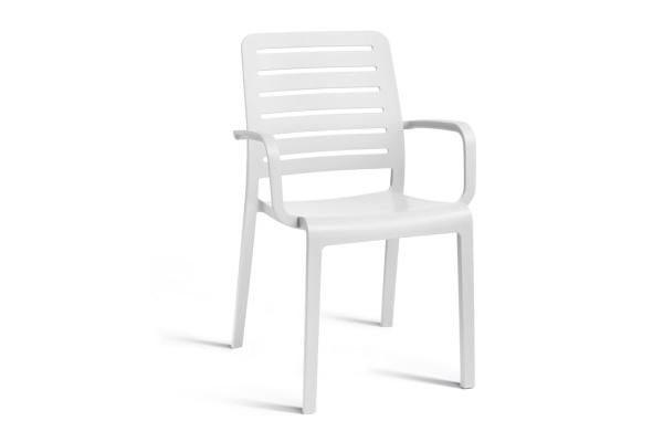 Charlotte Country chair with armrests white