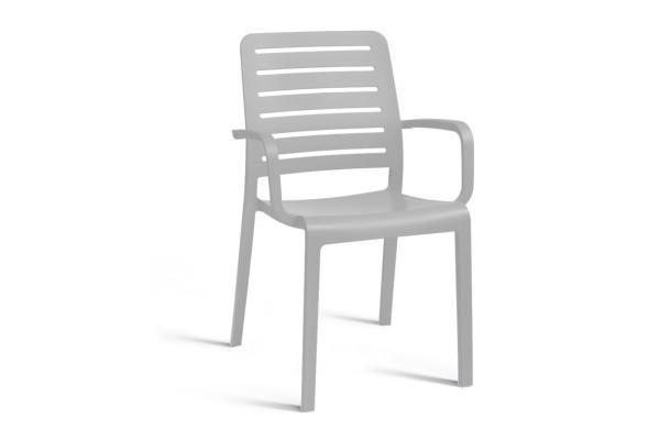 Charlotte Country chair with armrests light grey