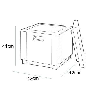 Allibert Carolina Oklahoma Rattan Cool Ice Box Cube Anthracite Brown Cappuccino