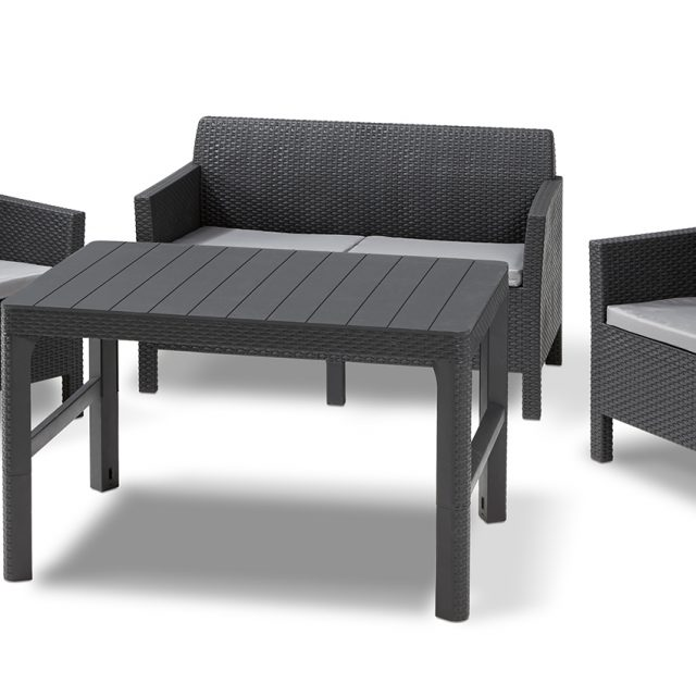 Allibert Orlando lounge set graphite two seater with Lyon table