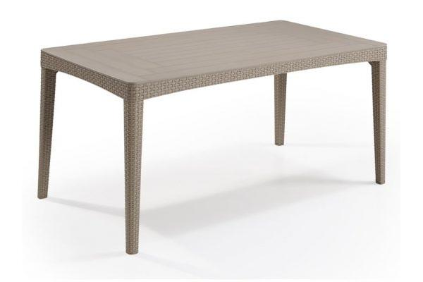Girona rezolith/flat wicker garden table cappuccino