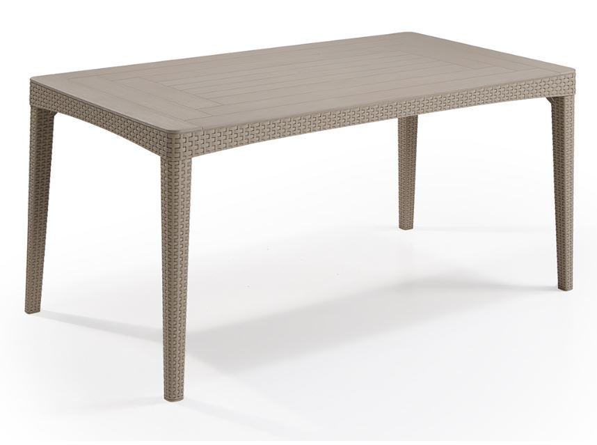 allibert girona table de jardin rezolith osier plat cappuccino allibert. Black Bedroom Furniture Sets. Home Design Ideas