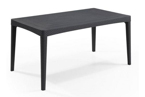 Girona rezolith/flat wicker garden table graphite
