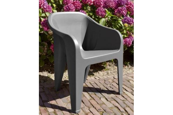 Almeria chaise empilable graphite
