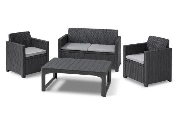 Merano lounge set Graphite with Lyon table