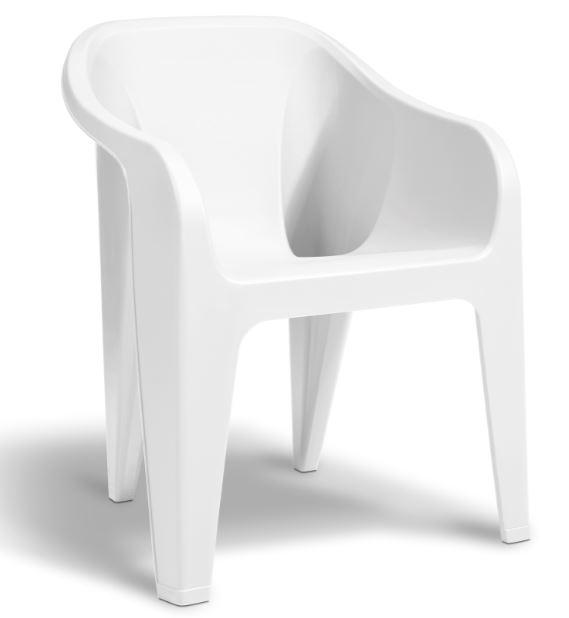 allibert almeria chaise empilable blanche allibert. Black Bedroom Furniture Sets. Home Design Ideas