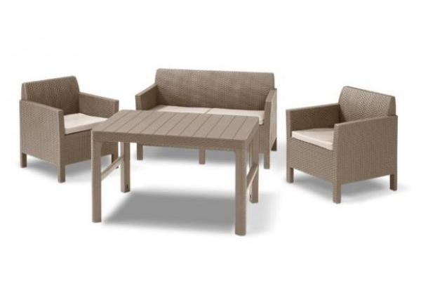 Orlando lounge set cappuccino two seater with Lyon table