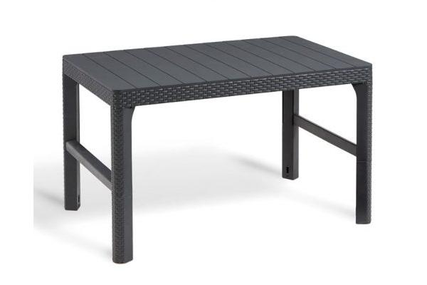 Lyon table graphite en osier plat