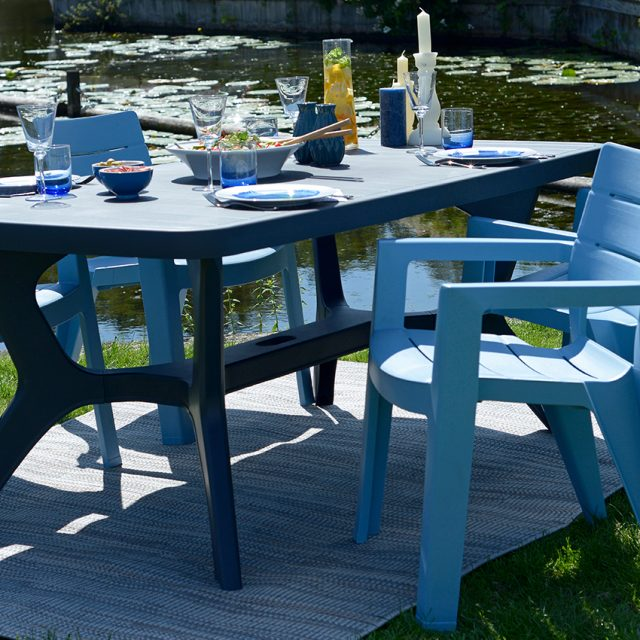Allibert Baltimore table de jardin cappuccino