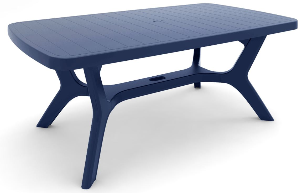 Allibert baltimore table de jardin bleue allibert for Table jardin bleu