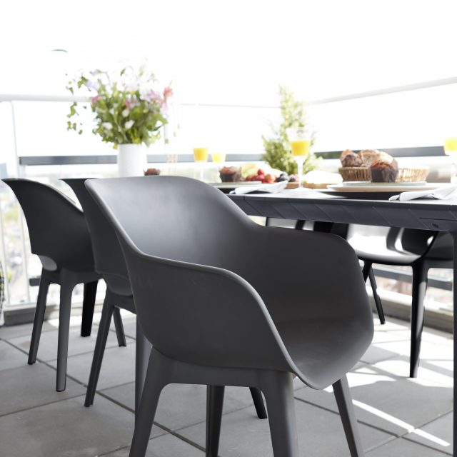 Allibert Akola Dining Chair Graphite